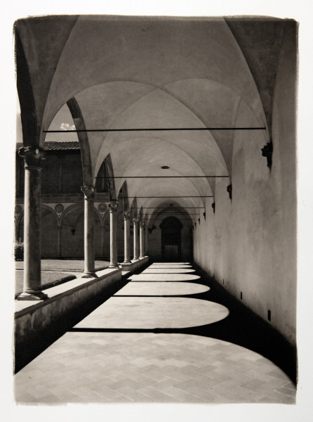 santa croce florence italy platinum print by Ian Swann